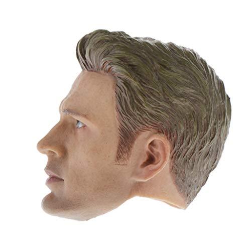 IPOTCH Lebensechte 1/6 Männliche Kopf Skulptur Männer Action Figure Modell Zubehör