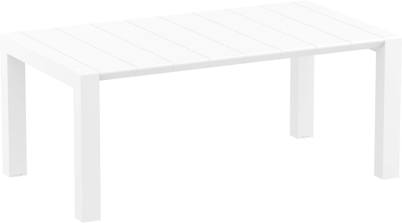 resol Mesa de jardín Exterior Rectangular Extensible Vegas 100x180/220 - Color Blanco: Amazon.es: Jardín