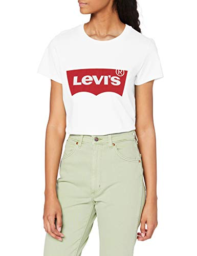 Levi's The Perfect Tee, Camiseta para Mujer, Blanco (Batwing White Graphic 53), Large