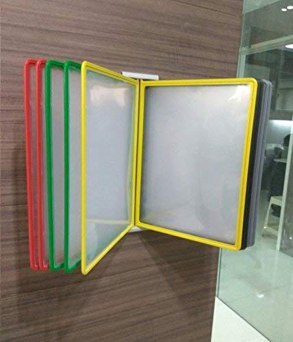 True-Ally Plastic File Folders Plastic Wall Hanging Documents Storage Folders Set of 5 - A4, Multicolored