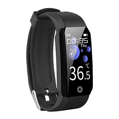 Orologio Fitness Tracker Smartwatch Uomo Donna Pressione Sanguigna Cardiofrequenzimetro da Polso Contapassi Sportivo Activity Tracker della temperatura corporea Impermeabile IP67 per Android iOS