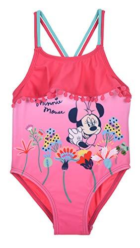 Bañador de 1 pieza para bebé niña Disney Minnie rosa y amarillo de 12 a 36 meses rosa 3 años