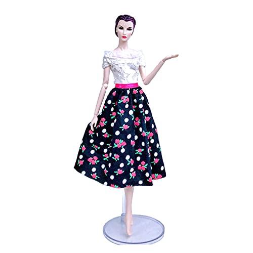 Vestido de Fiesta de la Tarde para Vestidos Florales de Barbie para 11.5'BJD Muñecas Ropa Moda Silm Mono para Muñecas Barbie Accesorios para Muñecas Niños Ventana Decoración Artesanías Lindas articul
