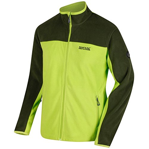 Regatta -RMA148 - Stanton II Fleece - Veste en polaire - Homme - Vert(Limeg/Racegr) - Taille: S