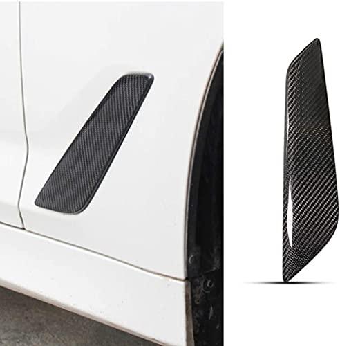 ZHSDTHJY Estilo de Fibra de Carbono, paraG30 Serie 5Fibra de Carbono Shark Gills Etiqueta de ventilación Lateral Car-Styling Car Front Fender Side Air Vent Cover Accesorios