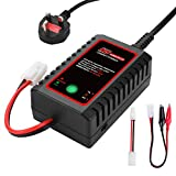 HTRC N8 NiMH Charger for 2-8s Nimh/NiCD Battery Pack(2.4V 3.6V 4.8V 6V 7.2V 8.4V 9.6V) of Airsoft RC Car RC Boat Drone,RC Charger for NiMH/NiCD Battery Pack with Standard/Mini Tamiya Connector