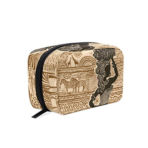 Trousse de maquillage Sunset Women Ethnic Elephant Cosmetic Pouch Clutch