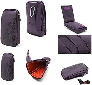 DFV mobile - Funda Multiusos con Varios Compartimentos para Cinturon y Mosqueton para MyWigo Magnum 2 Pro - Violeta (16 x 9.5 cm)