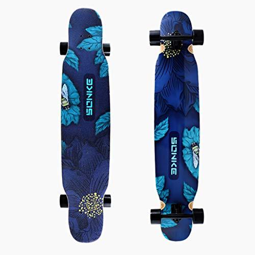 Longboard / 46-Zoll-Longboard-Skateboard Im Telok-Stil Kompletter Maple Deck Freestyle Cruiser Für Teenager, Anfänger, Mädchen, Jungen/Brush Street Dance Longboard