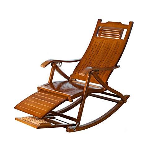 AI LI WEI Home Outdoor/Vrijetijdsstoel van bamboe, schommelstoel, eetkamerstoel van massief hout