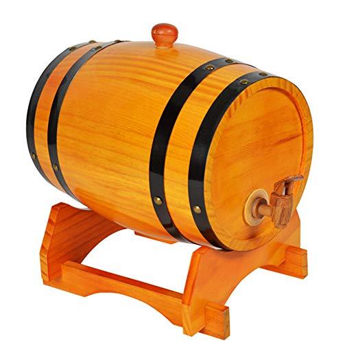 ASDF Eiken Vat, 3L/5L Houten Vat Wijnvat Whisky Barrel Schnapps Vat Eiken Wijnvat Suit voor Whisky Bourbon Tequila