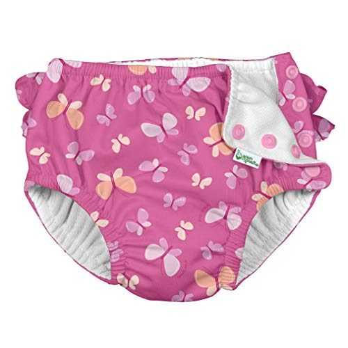 Product Image of the i play. by green sprouts Girls' Ruffle Snap Reusable Absorbent Swimsuit Diaper,...