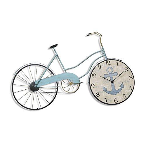 SCJ Reloj de Pared de Bicicleta Creativo, Estilo nórdico, Moderno, Minimalista, Personalidad, Moda mediterránea, Reloj silencioso, Adecuado para Sala de Estar, Dormitorio, cafetería, decoración