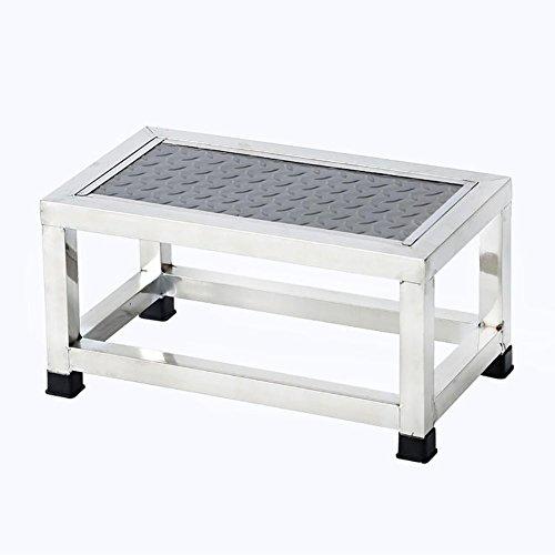 ZfgG Tabouret de Petit escalier de Tabouret d'échelle d'acier Inoxydable de Tabouret d'étape Simple pour la Clinique de ménage