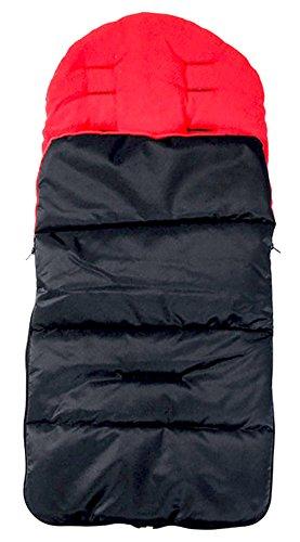 Happy Cherry - Saco para cochecito universal, saco de dormir para bebé, funda de pie, material polar suave, confortable y cálido, rojo, talla única