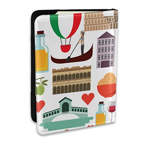 Conjunto de Iconos, Fundas de Pasaporte gráfico de diseño de Cultura Italiana,...