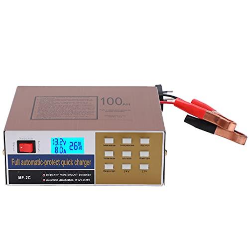 Cargador de batería de 12V 24V 220W MF ‑ 2C AC250V Cargador de batería inteligente Cargador de batería de motocicleta para automóvil Fuente de alimentación para mantenimiento de emergencia(EU)