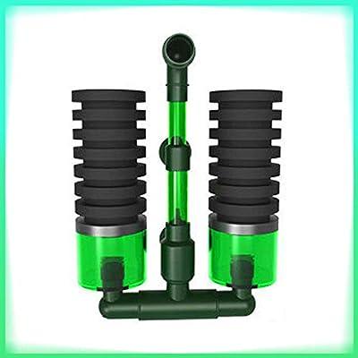 TiooDre Sponge Filters,Air Pump Aquarium Cleaner Sponge Filter Fish Tank Equipment Double Head(QS100A)