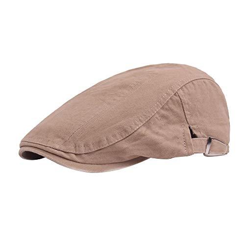 OEAK Herren Baskenmütze Vintage Gatsby Flatcap Schiebermütze Cap Golfermütze Schirmmütze Newsboy Flat Cap