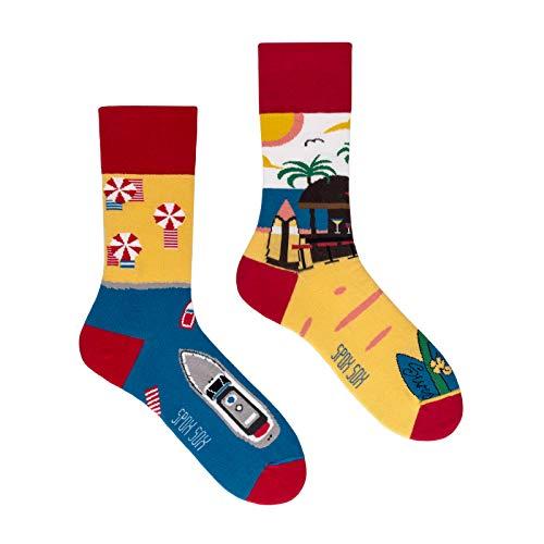 Spox Sox Casual Unisex - mehrfarbige, bunte Socken für Individualisten, Gr. 40-43, Sommer Paradies
