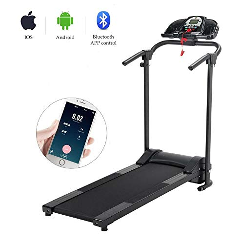 Lowest Price! Isaa Miilne 750W Foldable Electric Motorized Treadmill Running Jogging Gym Power Machi...