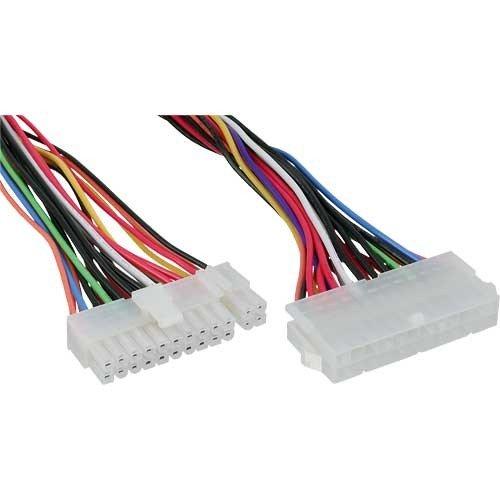 InLine 26629A Strom Verlängerung intern, 24pol ATX Buchse auf 20+4pol Stecker, 0,45m