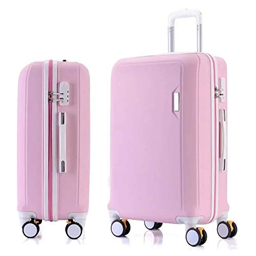 Mdsfe ABS + PC luggage set travel suitcase on wheels Trolley luggage carry on cabin suitcase Women bag Rolling luggage spinner wheel - pink, 26'