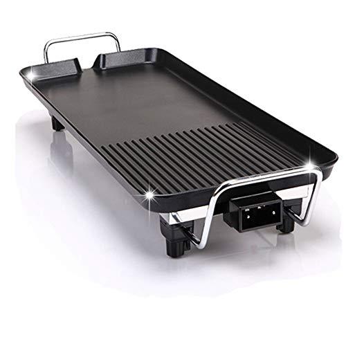 Elektrischer Teppanyaki-Grill, Rauchfreier Tragbarer BBQ-Barbecue-Grill, Große, Leicht Zu Reinigende Kochfläche Und Tropfschale Mit Thermostat, 1400 W