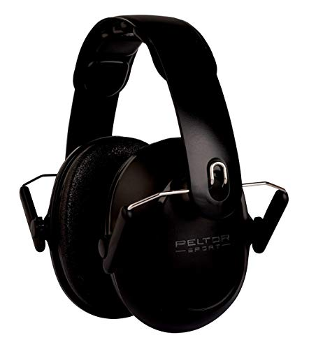 3M Peltor Sport Youth Hearing Protection, NRR 22, Black, Great for Shooting Range, Hunting, Loud Events, Quiet, Studying