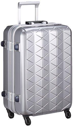 [サンコー] スーツケース フレーム SUPER LIGHTS MG-C 軽量 消音/静音キャスター MGC1-57 56L 57 cm 3.5kg エンボスヘアラインシルバー