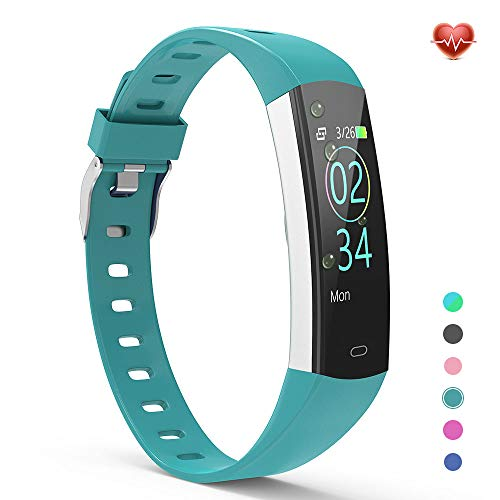 YoYoFit 2020 Version Slim Kids Fitness Tracker Heart Rate Monitor, Kids Activity Tracker Waterproof Pedometer Watch, Digital Kids Alarm Clock Step Calorie Sleep Health Tracker as Best Fitness Gift