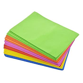 Crafters Square Foam Sheets for Arts and Crafting Projects  32 Sheets 6 Assorted Colors