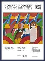 ポスター ハワード ホジキン Absent Friends The Tilsons Exhibition 額装品 ウッドベーシックフレーム(ブルー)