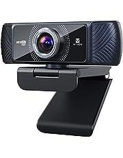 ウェブカメラ フルHD 1080P 60fps Webカメラ 200万 マイク内蔵 100°超広角 自動光補正 60 fps Pro級 ストリーミング PCカメラ ステレオマイク ノイズキャンセリング機能 USB 三脚対応 zoom skype ウェブ会議 youtube動画配信 テレビ電話適用 ウェブカム-Vitade 682H