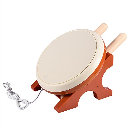 ASHATA Taiko No Tatsujin Drum Drumsticks Controller per Nintendo Wii Console, Taiko No Tatsujin Drum Set per Wii