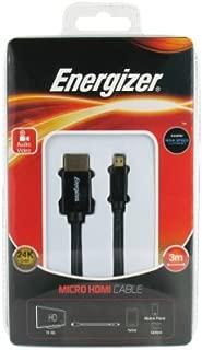 Energizer LCAECHAD30 HDMI to Micro HDMI Kablo, 3m, Siyah