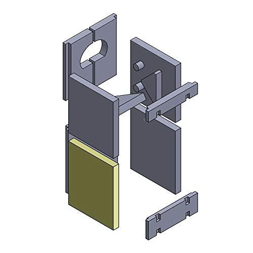 Flamado Feuerraumauskleidung Wandstein geeignet für Unten Links/Rechts passend für Wamsler Kamin Ersatzteile Kaminofen Brennraumauskleidung Schamotte 246 x 300 x 30 mm 1.350°C