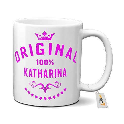 getshirts - Rahmenlos® Geschenke - Tasse - Namenstag - Frauen Vorname 100 Prozent Katharina - Uni Uni