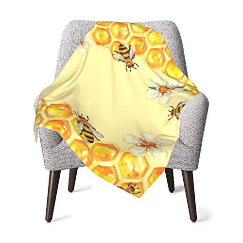 XCNGG Mantas para bebés edredones para bebésBee in Flower Take Honey Baby Blanket All Season, Super Soft Warm Cozy Blanket for Infant, Newborn or Kid, Receiving Blanket for Crib, Stroller, Travel, Dec