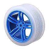 Módulo electrónico 65 * 27mm Azul ruedas de caucho for TT inteligente de motores chasis del coche Accesorios 4 piezas Equipo electrónico de alta precisión