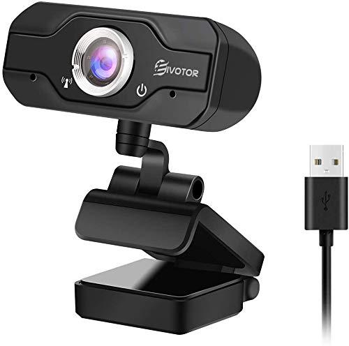 EIVOTOR Webcam USB PC, 720P HD Computer Kamera mit Mikrofon Streaming Webcam Laptop Business Webcam für Konferenz, Zoom, Skype, Google Hangouts, Facecam, YouTube, Windows 7/8/ 10/ Vista 64 Bit