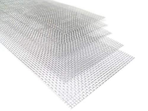 Bewehrungsnetz V4A Edelstahl 5 Stück 200x50mm - Gewebe Netz Gitter zum Kunststoffschweissen (5 Stück 20x5cm)