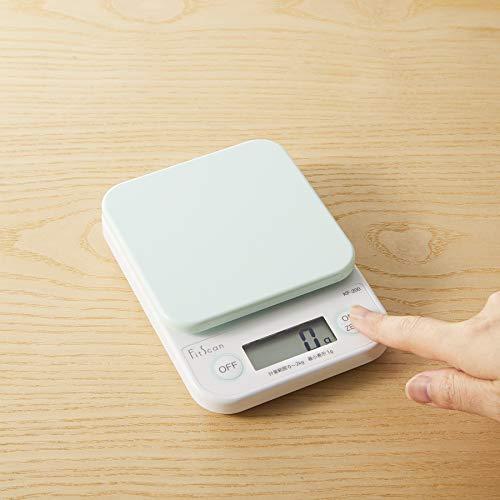 タニタクッキングスケールキッチンはかり料理デジタル2kg1g単位グリーンKF-200GR