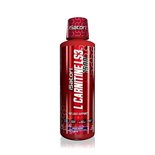 iSatori L-Carnitine LS3 Concentrated Liquid Fat Burner and Metabolism Activator - Fat Loss for Health and Fitness - Keto Friendly Weight Loss - Stimulant Free - Mixed Berry 1500mg (32 Servings)