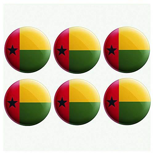 AK Giftshop Guinea-Bissau Flaggen-Anstecker – Partytütenfüller – Veranstaltungen – Feiern – Sammler – Dekorationen – Sockenfüller (12 Stück)