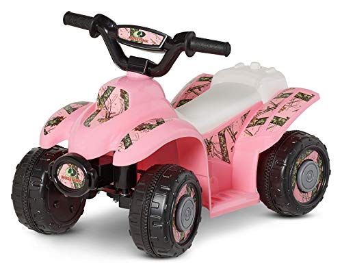 Kid Trax Mossy Oak Toddler Quad Ride On Toy, 6 Volt Battery, 1.5-3 Years Old, Max Weight 44 lbs, Single Seater, Pink