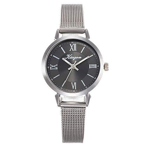 TWISFER Uhren,Elegante Damen Armbanduhr Römische Ziffern Zifferblatt Mesh Edelstahl Armband Ladies Dress Analog Quarzuhr Einfache Armbanduhr