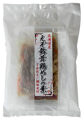 えぞ舞茸鶏めしの素 2合炊き(北海道産えぞまいたけ使用)風味豊かなマイタケと鶏肉のご飯 舞茸たっぷりの炊き込みご飯の素(北海道きのこ王国)味わい深い鶏飯の素