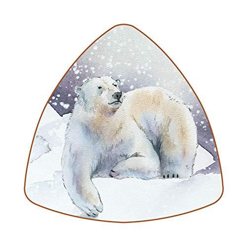 Snow Winter Animal Polar Bear Untersetzer für Getränke, Tasse, Flasche, Tasse, Kaffee, Bier