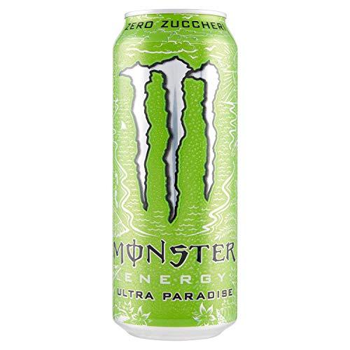 24x Monster Energy Ultra Paradise Senza Zucchero Energiegetränk mit Kiwi und grünem Apfel 500ml alkoholfreies Getränk Erfrischungsgetränk ohne Zucker Sportgetränk